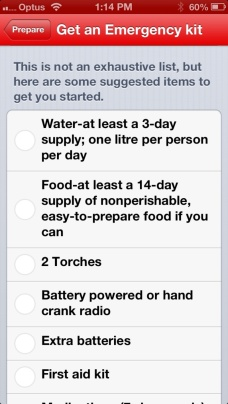 N, A. (2017). Make An Emergency Kit. [Screenshot]. Retrieved from http://parent101.com.au/product-review-first-aid-app-by-the-australian-red-cross/im54377/